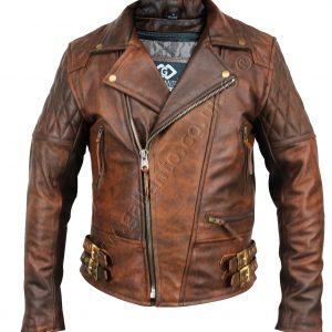 ab0beabcb87 ... 3/4 Eddie Black Biker Leather Jacket £135.00 – £155.00; 106 Classic  Diamond Brown Motorcycle Leather Jacket ...