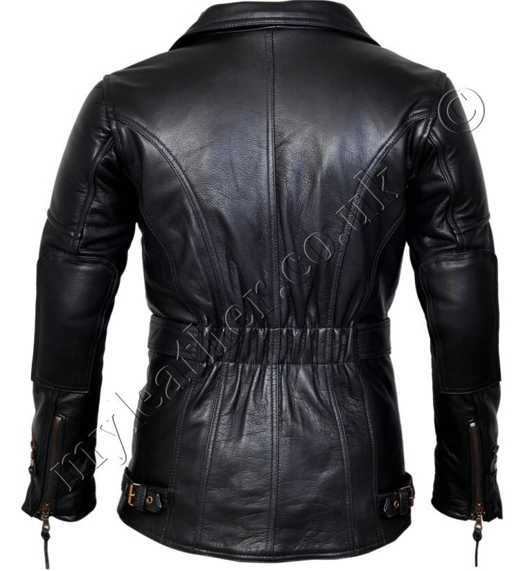 9e63b41ff3a ... Motorcycle Jackets / Mens Leather Jackets / 3/4 Eddie Black Biker  Leather Jacket. £135.00 ...